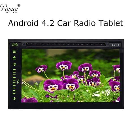 """Pantalla tš¢ctil Android 4.2 la radio de coche vw Universal Tablet 7 """"pulgadas 2 DIN Automobile Android GPS Navegaciš®n 4.2 DVD del coche en el tablero de GPS MultimšŠdia Apoyo al Jugador telšŠfono e"""