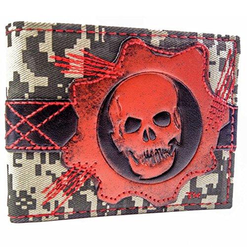 Microsoft Gears of War Cog Skull Rosso portafoglio