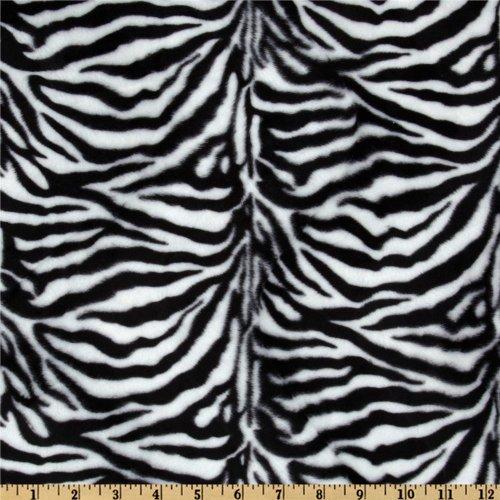 60'' Wide Wavy Soft Fur Zebra Black/White Fabric By The Yard