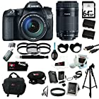 Canon EOS 70D EFS 18-135mm IS STM Kit + Canon EF-S 55-250mm f/4-5.6 IS STM Lens + 64GB SDXC Memory Card + Tiffen Photo Essentials Filter Sets (2) + Replacement Battery + AC/DC Rapid Mini Battery Charger for Canon + Accessory Kit