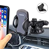 Car Dashboard Phone Holder, PLDHPRO 2-in-1 Windshield/Dash/Stick On Car Suction Cup with Telescopic Extension Rod,for iPhone Samsung Sony Google All 4