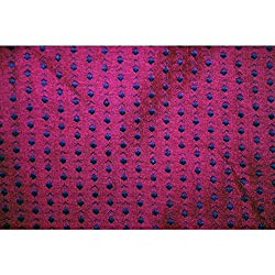 Aagaman Fashions Brocade Fabrics (TSFB003B_Magenta)