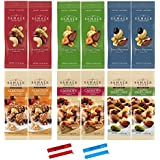 ** 12 Packs ** Sahale Snacks All Natural Nut Blends Grab And Go Variety Pack (1.5 oz x 12 Packs) with Bonus 2 x 2-Inch Snack Bag Clips
