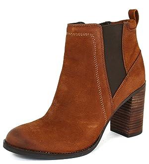 Franco Sarto Women's Odette Cognac Leather Boots