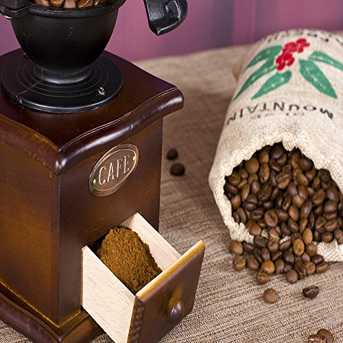 Foruchoice-Vintage-Style-Coffee-Grinder-Spice-Hand-Grinding-Machine-Hand-crank-Roller-Drive-Grain-Burr-Mill-Coffee-Machine