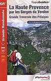 echange, troc FFRandonnée - La Haute Provence par les Gorges du Verdon : GR4