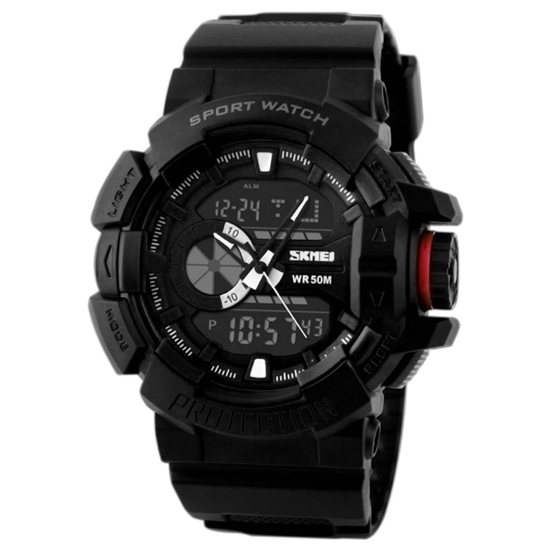 Wrist watch price in oman - Addic Analogue Digital Black Dial Mens Watch Mw34