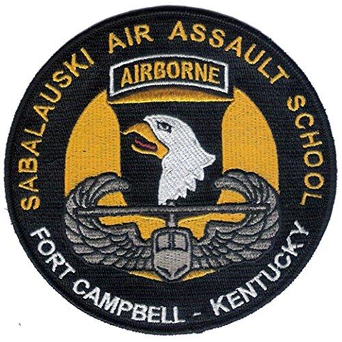 "Large 5 "" Diameter Embroidered Sabalauski Air Assault School Patch - U. S. Army Air Assault - Ft Campbell, Kentuck - 101St Airborne Division"