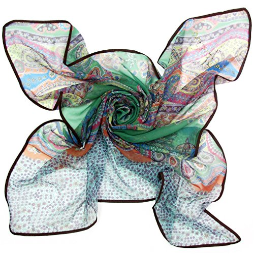 Maikun Scarf Trendy Art Diamond-Ironing Square Scarf Green