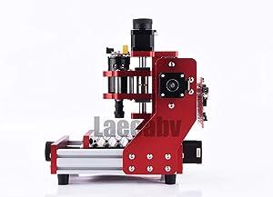 CNC 1310 Metal Engraving Machine DIY Mini Milling Router Desktop Offline Carving Machine (Color: white, Tamaño: 13X10CM)