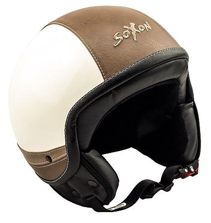 SOXON SP-325 Urban creme casque JET moto Cruiser Pilot helmet - XS S M L XL