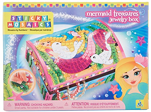 Orb Factory Sticky Mosaics Mermaid Treasures Jewelry Box Kit (Mermaid Sewing Kit compare prices)