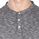 American-Crew-Mens-Henley-Full-Sleeve-Slub-T-Shirt-Black-White