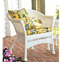 Lightweight All-Weather Resin Outdoor Wicker Chair in Green