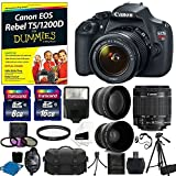 Canon EOS Rebel T5 DSLR CMOS Digital SLR Camera Bundle with Tripod - Carry Bag and Accessories (16 Items)