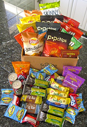 Sunlite Snacks Healthy Snack Box, College Campus, Military, Breakroom, Gift, Care Package