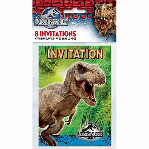 Jurassic World Party Invitations, 8ct