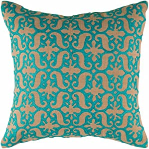 Amazon.com: Brown and Teal Decorative Accent Pillow - Set of 2 ...