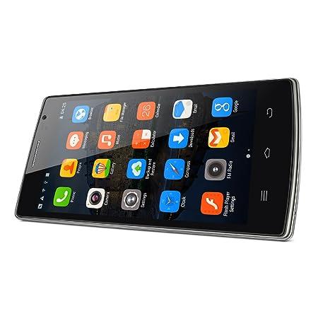 5.0 écran THL 5000T Nouveau Smartphone sans forfait Android 4.4 3G MTK6592M Octa Core 1.4 GHz Double SIM GSM/WCDMA ROM 8GB + RAM 1GB Caméra 13 MP + 5MP Batterie 5000 mAh Charge rapide et longue durée - Noir