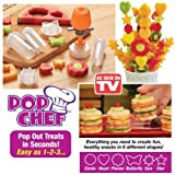 Pop Chef - Just Push, Pop And Create. Pop Chef Fruit Cutter Food Salad Decorator Create Shapes In Seconds Party...