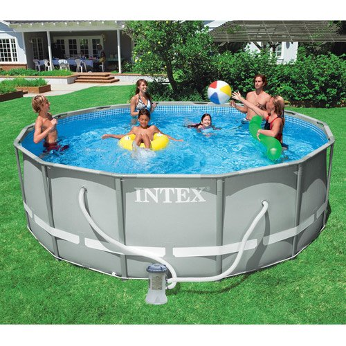 Review before grabbing intex 12 39 x 36 ultra frame aboved ground swimming pool round intex pool for Metal frame swimming pool 12 x 39