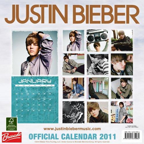 Justin Bieber 2011 12X12 Square Wall Calendar