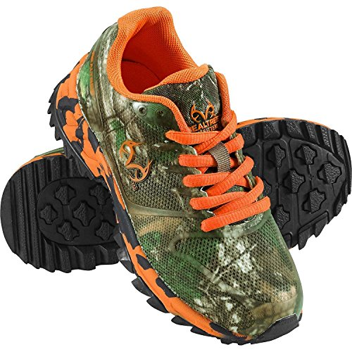 Legendary Whitetails Kid's Cobra Jr II Camo Trail Shoe Orange 12