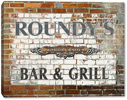 roundys-world-famous-bar-grill-brick-wall-canvas-print-24-x-30