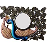 Ghanshyam Art Wood Peacock Wall Mirror (60.96 Cm X 4 Cm X 45.72 Cm, GAC063)
