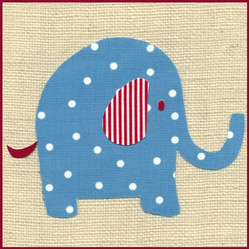 Green Frog Art 6X6 Canvas Gallery Wrapped Art, Katherine's Elephant