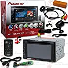 2014 Pioneer Double DIN 6.1 Touchscreen AM/FM DVD MP3 WMA CD Player USB AUX-IN + Remote with FREE JDM 170° Rear View Back-up Camera