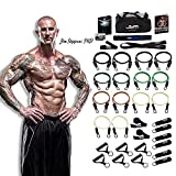 PhD Fitness LLC The JYM Strength Bands System, by Renowned Training Expert Dr. Jim Stoppani, Includes 14 Anti-SNAP Bands (34 Pieces - Dr. Jim Stoppani Edition 404lbs) (Color: Camo)