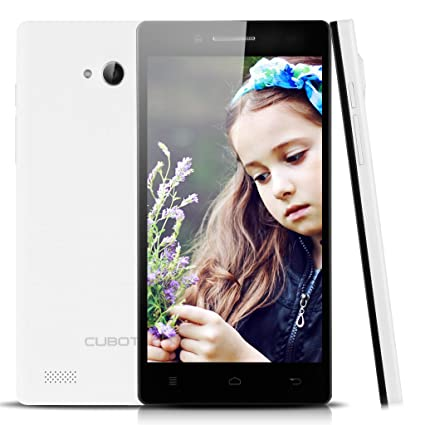 """Blanc Cubot Zorro 001 4G Smartphone 5,0"""" IPS Ecran 1Go RAM et 8Go ROM QUALCOMM MSM8916 Google Android 4.4 Quad Core Dual SIM Dual caméra 8MP WIFI GPS FM Bluetooth compatible avec opérateur orange SFR Bouygues Virgin Free Numericable Dom"""