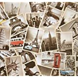 Monkeybrother Collection de Cartes Postales Souvenirs de Voyage 32pcs