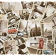 Monkeybrother 32pcs Collection de Cartes Postales, souvenirs de voyage