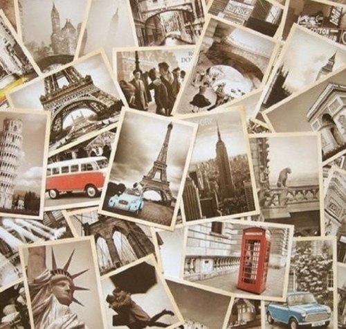32 PCS 1 Set Vintage Retro Old Travel Postcards for Worth Collecting (World Postcards compare prices)