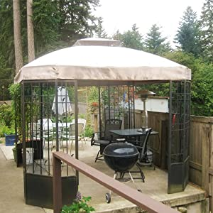 Bay Window Garden Oasis Bay Window Gazebo Replacement Netting