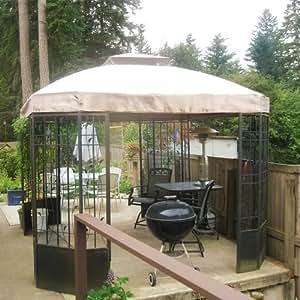 Bay Window Vine 10 X 12 Gazebo Replacement Canopy Riplock 350 Patio Lawn Garden