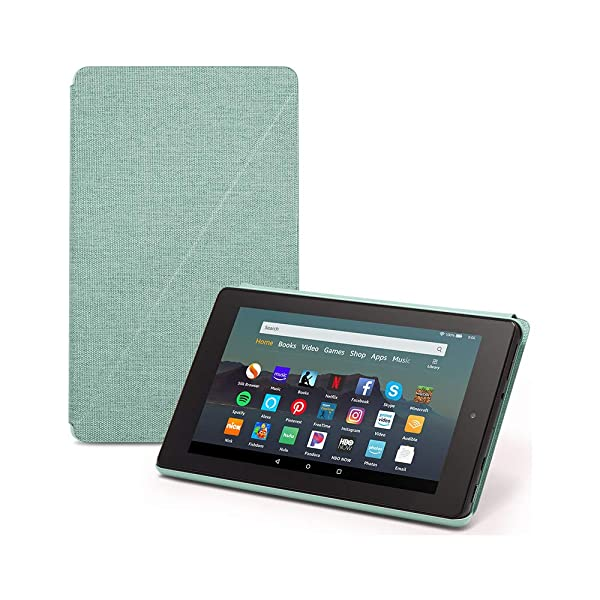 Fire 7 Essentials Bundle including Fire 7 Tablet (Sage, 32GB), Amazon Standing Case (Sage), and Nupro Anti-Glare Screen Protector (Color: Sage)
