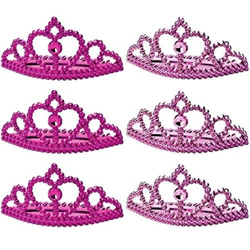 Amscan Sparkling Princess Tiara (6 Piece), Pink - 1