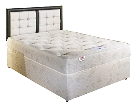 Bed Centre Orthopaedic Divan Bed with 2 Draws Same Side and Headboard- Double (4'6)