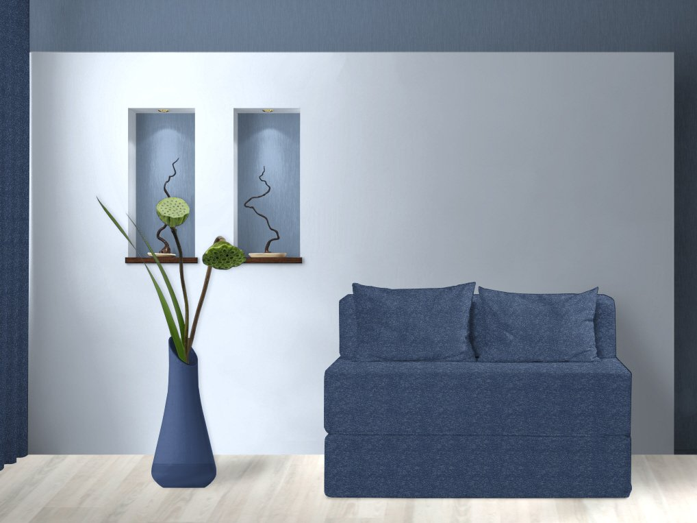 Schlafsofa, Deep Light Blue, 120 cm günstig