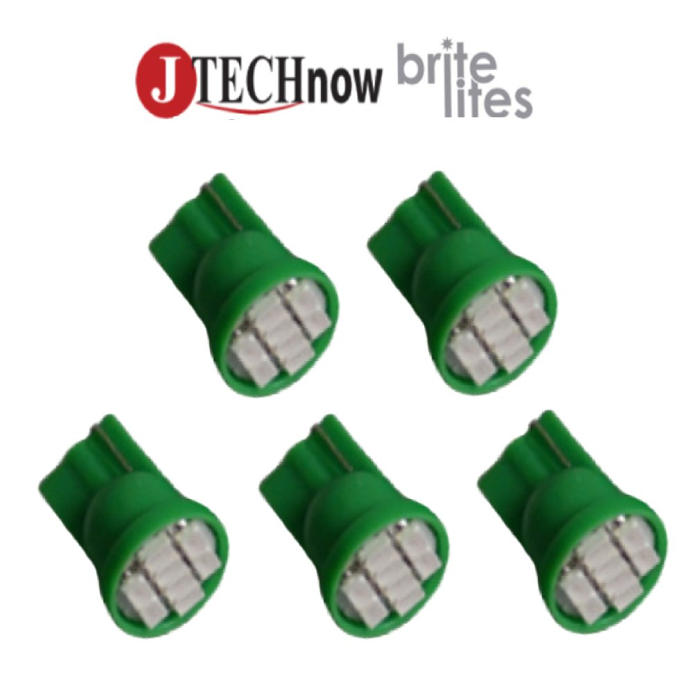 Jtech 5 x T10 8-SMD Green LED Car Lights Bulb W5W, 147, 152, 158, 159, 161, 168, 184, 192, 193, 194 2825 aveda green science masque age 8 5 oz