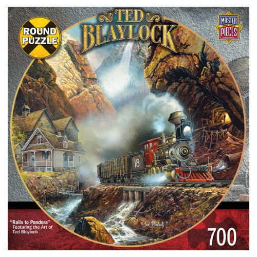 Rails to Pandora 700 pc Round Railways Blaylock - 1