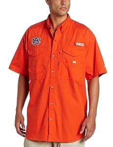 Buy Columbia NCAA Mens Auburn Tigers Collegiate Bonehead Short Sleeve Shirt (Bronco, Medium) by Columbia