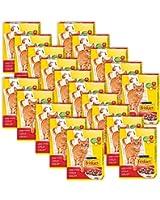 Friskies Chat Croquettes pour chat adulte Boeuf, Poulet & Foie ajouté 400 g - Lot de 20 (8 kg)