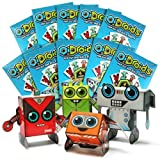 OiDroids Party Pack 10 Packs of 4 Pop-out and Build Robots