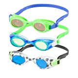 Speedo Kids Swim Goggles Triple Goggle Pack ~ Fun Prints (Blue)