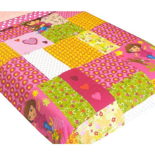 Dora Explorer Puppy Patchwork Full Bed Comforter back-1055823