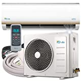 Senville SENL-18CD 18000 BTU 15 SEER Split Air Conditioner and Heat Pump, Mini (Color: White, Tamaño: 18000 BTU)